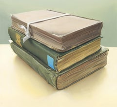 Travel Books: Photorealistic Oil Painting by Ian Robinson
