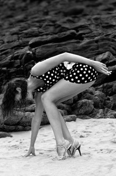 Ariane- Signed limited edition pigment print, Black and White Photography, Beach