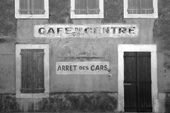 Café - Signed limited edition fine art print,Black and white photography,France