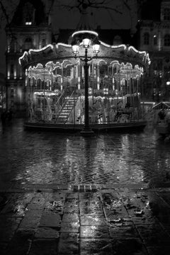 Carrousel-Signed limited edition fine art print,Black and white photo,Paris