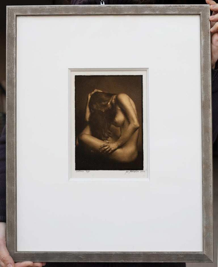 Ian Sanderson Nude Photograph - Framed Print - Sophie -Platinum Palladium print on vellum over 24 carat gold A/P