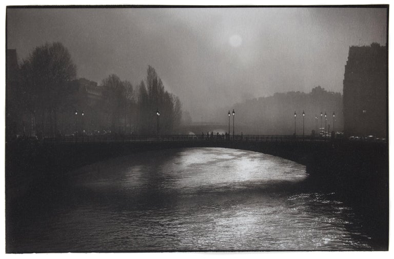 Pont d'Arcole - Platinum Palladium print on vellum over silver, limited edition - Black Black and White Photograph by Ian Sanderson