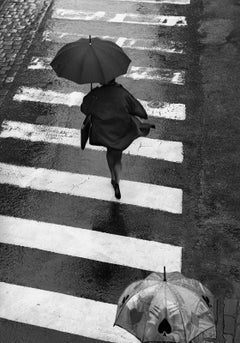Umbrella -Signed limited edition fine art print,Black and white photo, Analog