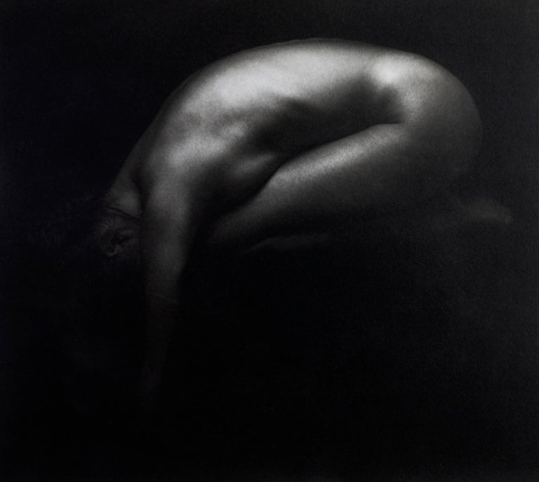 Valérie -Platinum Palladium print on vellum over silver, Nude,Fine art, Sensual - Black Nude Photograph by Ian Sanderson