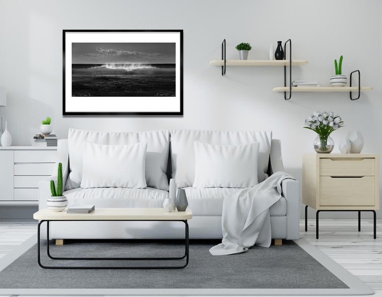 Wave 2 - Signed limited edition fine art print, Black and white photography, Sea - Photograph by Ian Sanderson