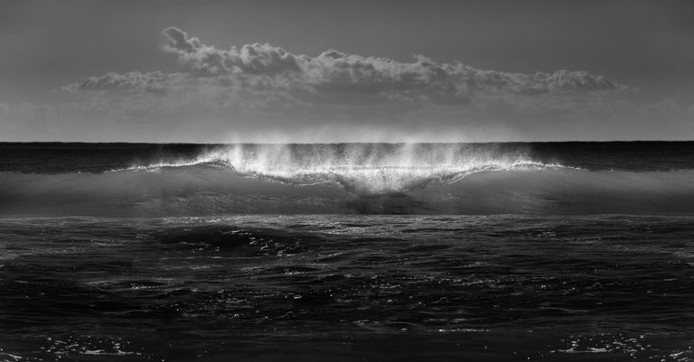 Ian Sanderson Landscape Photograph - Wave 2 - Signed limited edition fine art print, Black and white photography, Sea