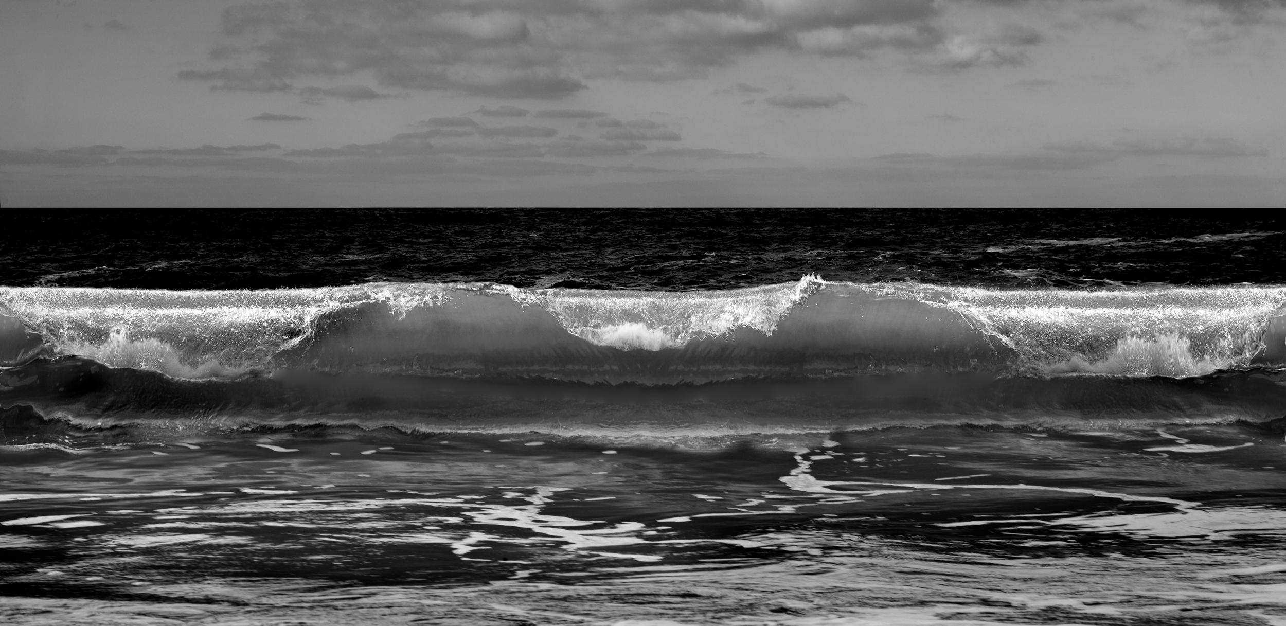 Wave-Signed limited edition fine art print,Black and white photography,Panorama