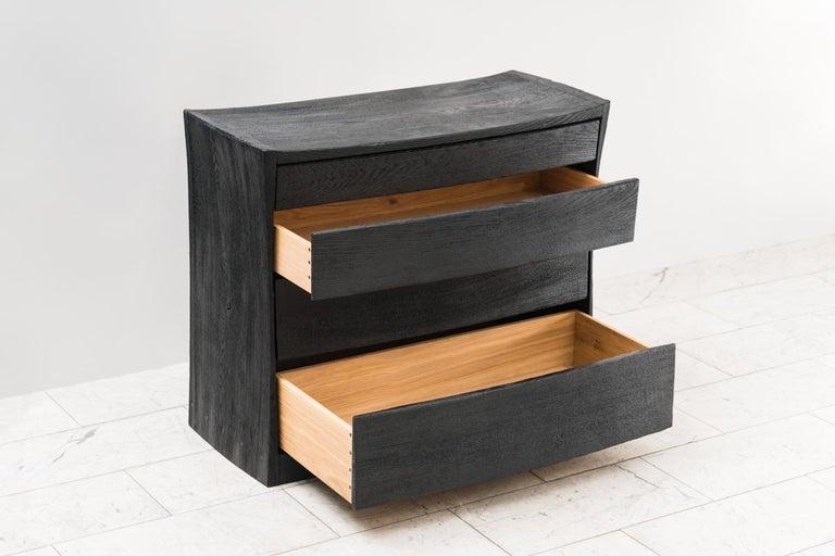 British Ian Spencer, Charred Curved Front Dresser, UK For Sale