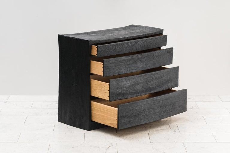 Ian Spencer, Charred Curved Front Dresser, UK For Sale 1