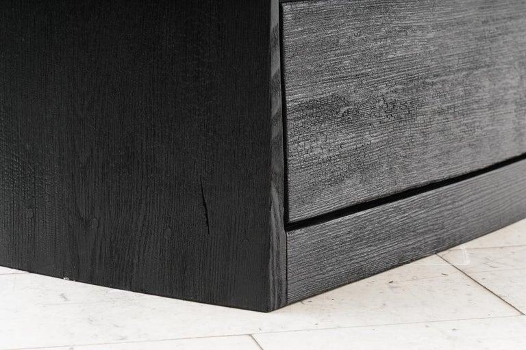 Ian Spencer, Charred Curved Front Dresser, UK For Sale 2