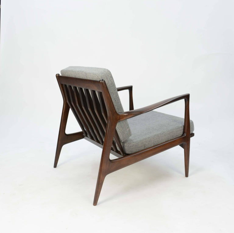 Mid-20th Century Ib Kofod- Larsen Club Chair and Ottoman for Selig of Denmark For Sale