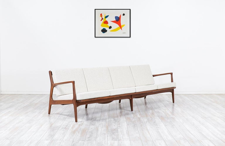 Mid-Century Modern Ib Kofod-Larsen 4-Seat Sofa for Selig For Sale