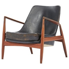 """Ib Kofod-Larsen, a Lounge Armchair """"Seal"""", Produced by OPE, Sweden, 1950s"""