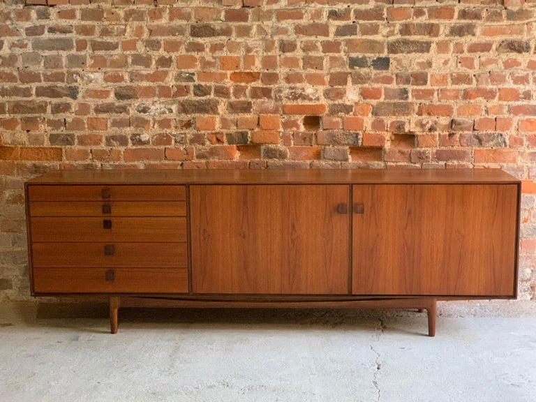 Ib Kofod-Larsen African Teak Sideboard Credenza, G-Plan Danish Design, 1960s For Sale 2
