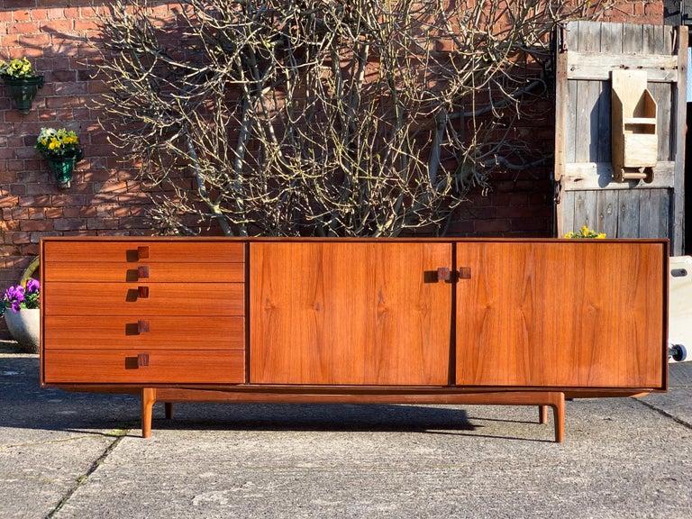 Ib Kofod Larsen African Teak Sideboard Credenza, G-Plan Danish Design, 1960s 3
