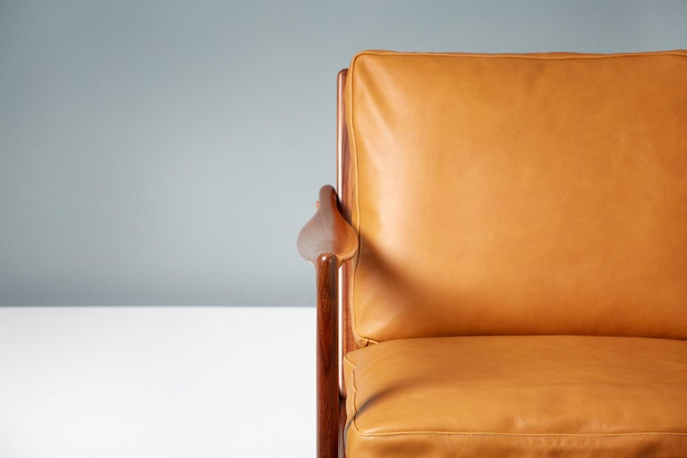 Scandinavian Modern Ib Kofod-Larsen Afromosia Teak Candidate Lounge Chairs, circa 1960 For Sale
