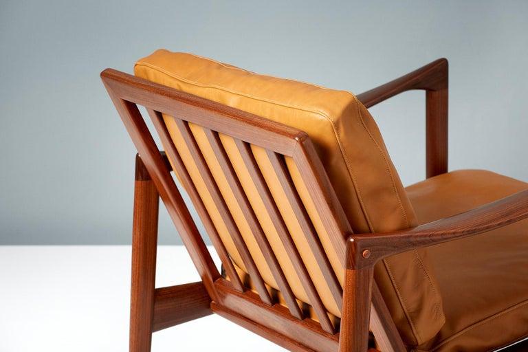 Mid-20th Century Ib Kofod-Larsen Afromosia Teak Candidate Lounge Chairs, circa 1960 For Sale