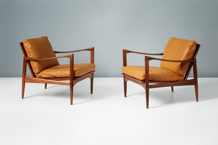 Ib Kofod-Larsen Afromosia Teak Candidate Lounge Chairs, circa 1960 For Sale 2