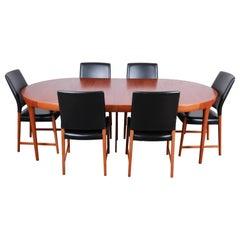 Ib Kofod-Larsen and Torbjorn Afdal Scandinavian Modern Teak Dining Set