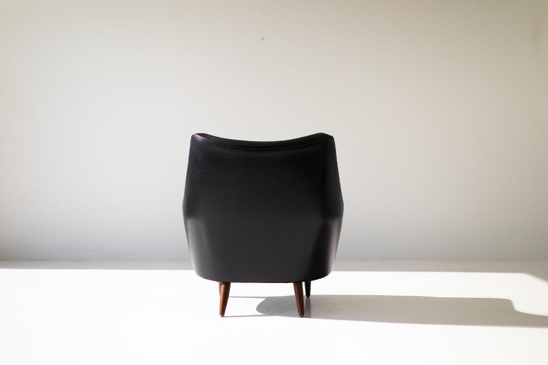 Leather Hans Olsen Lounge Chair for Chr. Sorensen & Co. For Sale