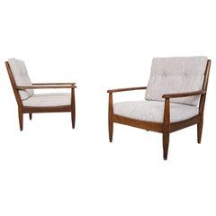 Ib Kofod-Larsen & Bovenkamp Attributed Lounge Chairs in Oak, Dutch Design, 1960s