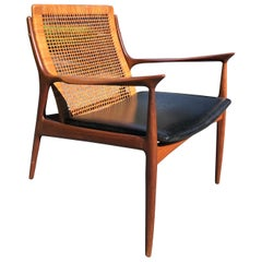 Ib Kofod Larsen Cane Back Lounge or Armchair
