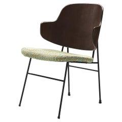 Ib Kofod-Larsen Chair Model 'Penguin' in Walnut, Steel and Fabric