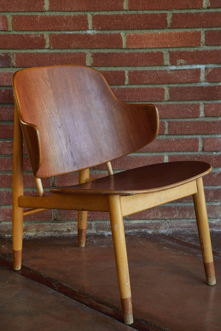 Danish Ib Kofod-Larsen Chairs for Christiansen & Larsen For Sale