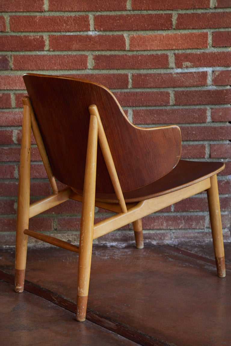 Mid-20th Century Ib Kofod-Larsen Chairs for Christiansen & Larsen For Sale