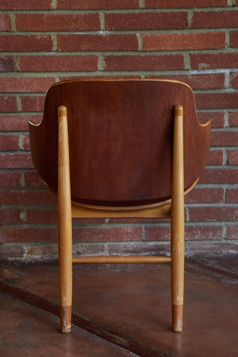 Brass Ib Kofod-Larsen Chairs for Christiansen & Larsen For Sale
