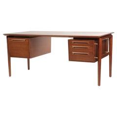 Ib Kofod-Larsen Desk in Teak by Seffle Möbelfabrik, Sweden, 1950s