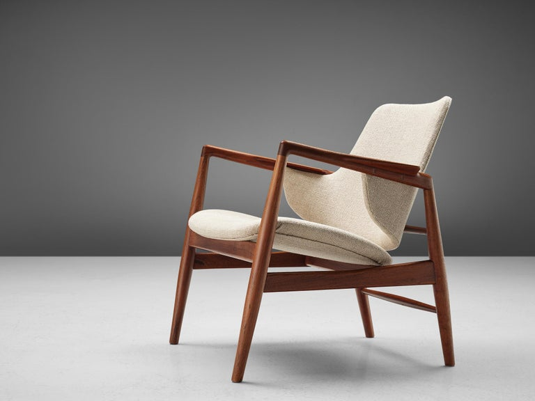 Ib Kofod-Larsen, manufactured by Christensen & Larsen Cabinetmakers, teak and upholstery, Denmark, 1953. 