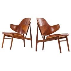 Ib Kofod-Larsen Easy Chairs Model DP 9 by Christensen & Larsen in Denmark