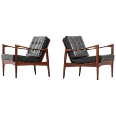 Ib Kofod-Larsen Easy Chairs Model Kandidaten Produced by OPE in Sweden