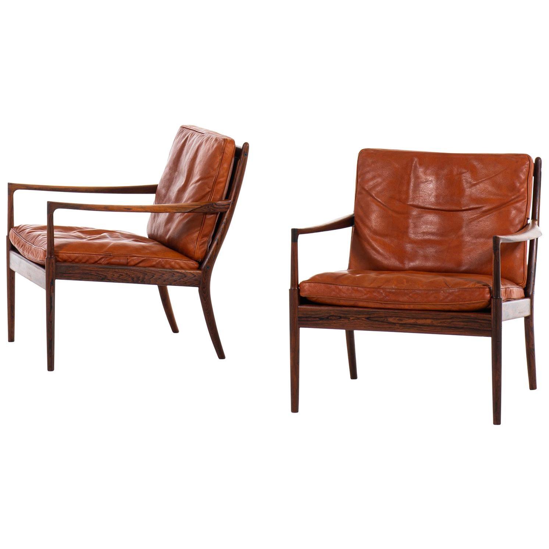 Ib Kofod-Larsen Easy Chairs Model Samsö Produced by OPE in Sweden