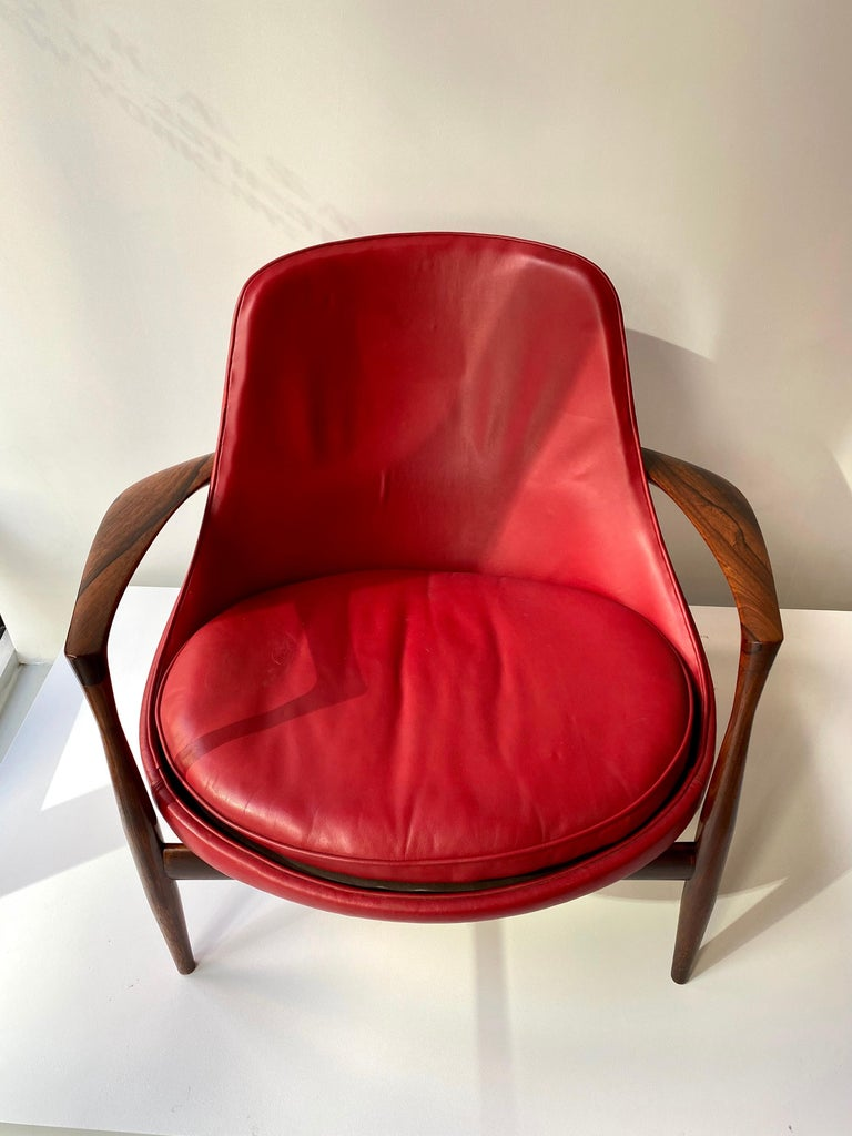 "Danish Ib Kofod - Larsen ""Elizabeth"" Chair in Rosewood, 1956 For Sale"