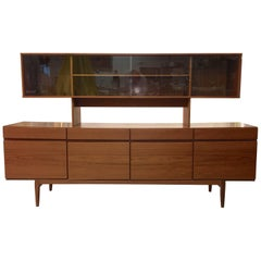 Ib Kofod-Larsen Fa-66 Teak Sideboard by Faarup with Lovig Hutch