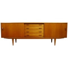 IB Kofod-Larsen for Clausen and Son Danish Modern Credenza in Teak