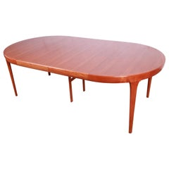 Ib Kofod-Larsen for Faarup Danish Modern Teak Extension Dining Table