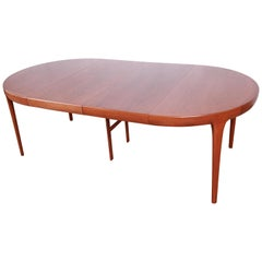 Ib Kofod-Larsen for Faarup Danish Teak Extension Dining Table, Newly Restored