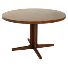 Ib Kofod Larsen for Faarup Mobelfabrik MCMrosewood Dining Table with 2 Leaves