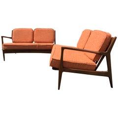 IB Kofod Larsen for Selig 2 Piece Sectional Sofa