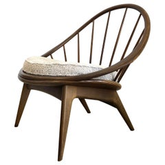 Ib Kofod-Larsen for Selig Danish Hoop Peacock Chair