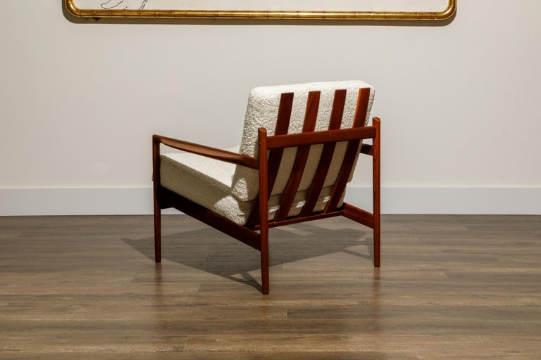 IB Kofod-Larsen for Selig Lounge Chairs Reupholstered in Bouclé, c 1960 5