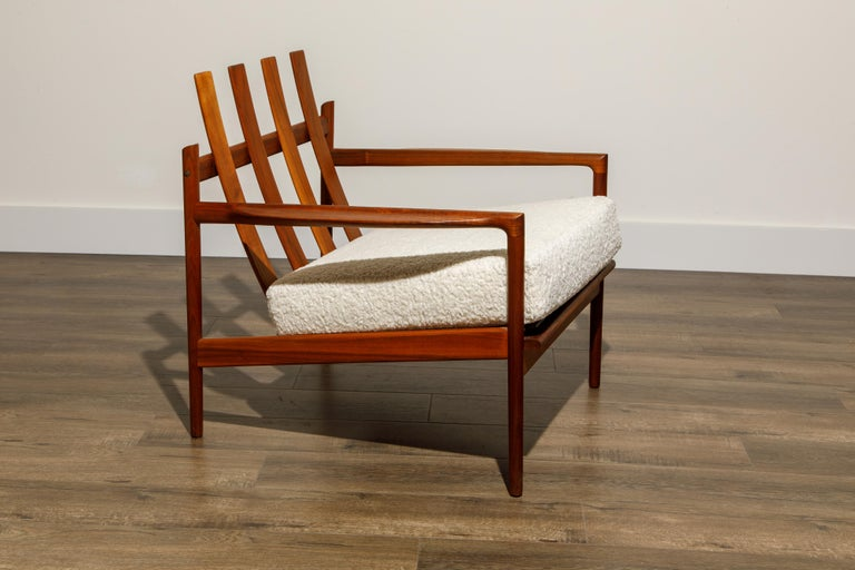 IB Kofod-Larsen for Selig Lounge Chairs Reupholstered in Bouclé, c 1960 7