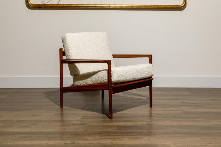 IB Kofod-Larsen for Selig Lounge Chairs Reupholstered in Bouclé, c 1960 1