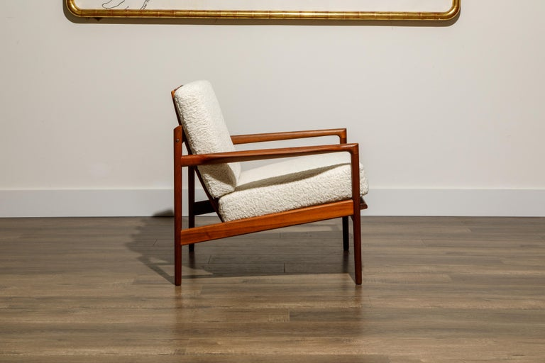 IB Kofod-Larsen for Selig Lounge Chairs Reupholstered in Bouclé, c 1960 2