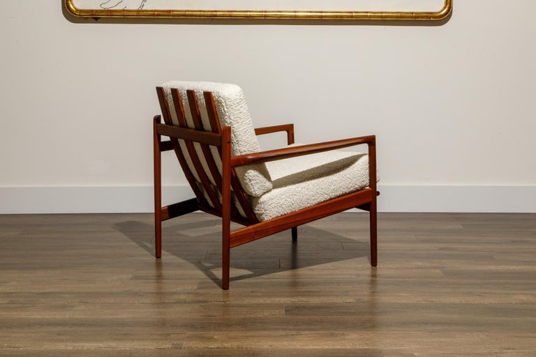 IB Kofod-Larsen for Selig Lounge Chairs Reupholstered in Bouclé, c 1960 3