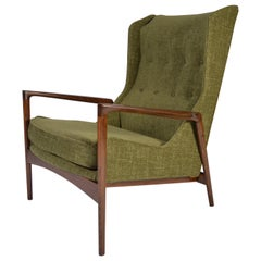 IB Kofod-Larsen for Selig Wingback Lounge Chair
