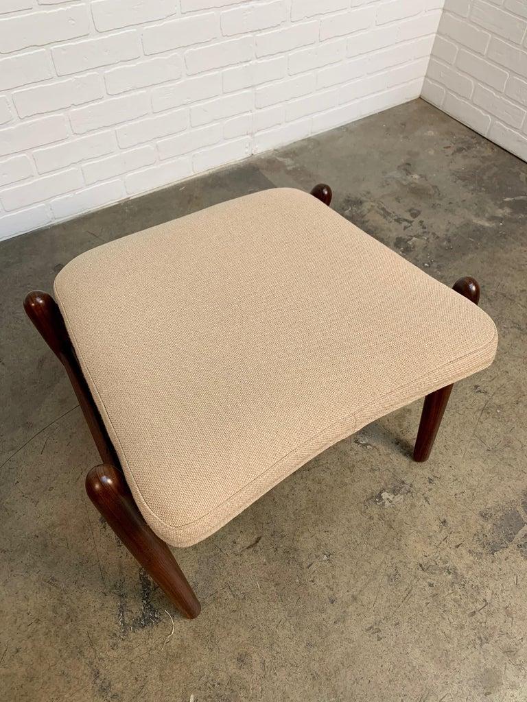 I.B. Kofod-Larsen High Back Lounge Chair Model PD30 with Ottoman, circa 1960 For Sale 4
